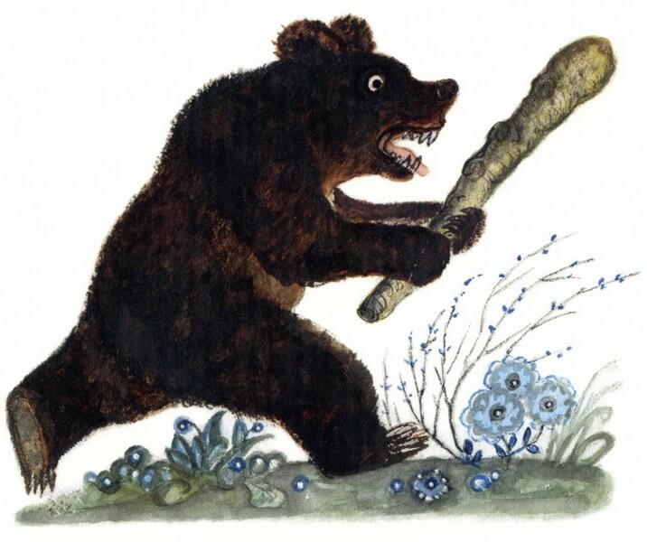 картинки из сказки краденое солнце медведь приводит