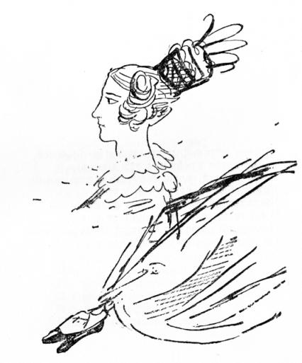 Ек. Н. Ушакова. Рисунок Пушкина. 1829.