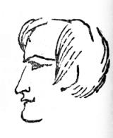 Мицкевич. Рисунок Пушкина. 1829.